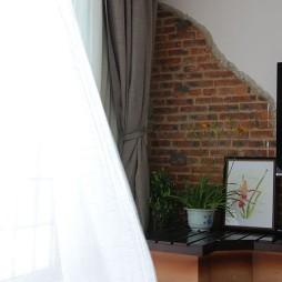 房屋小客厅窗帘装修效果图