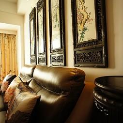 中式客厅挂画背景墙装修效果图