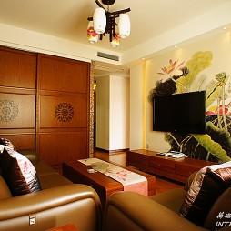 房屋中式客厅柜子设计装修效果图