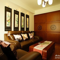 中式客厅红木家具装修效果图