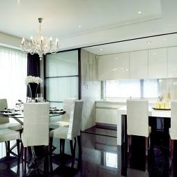 现代风格厨房餐厅吧台装修效果图