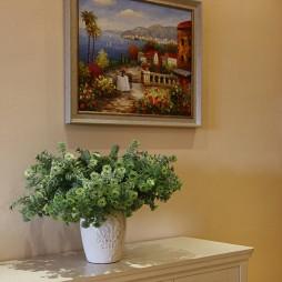 田园风格样板房客厅柜子设计装修效果图片