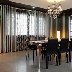 家庭餐厅窗帘装修效果图