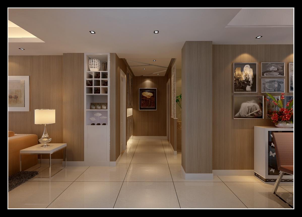 客厅与走廊移门效果图_进门过道 – 设计本装修效果图