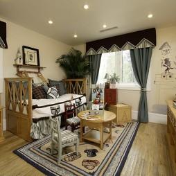 蓝岸丽舍经典英式田园样板房设计儿童卧室装修效果图
