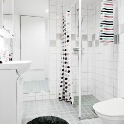 混搭风格简装普通主卫生间马赛克瓷砖装修效果图片