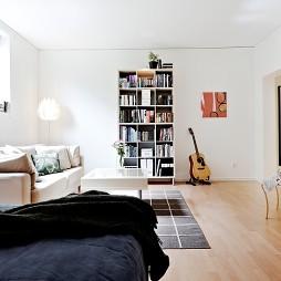 房屋小客厅客厅与卧室软隔断装修效果图片