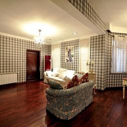 美式田园风房屋农村室内小客厅装修效果图