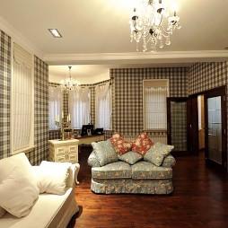 美式田园风房屋农村室内小客厅装修效果图片