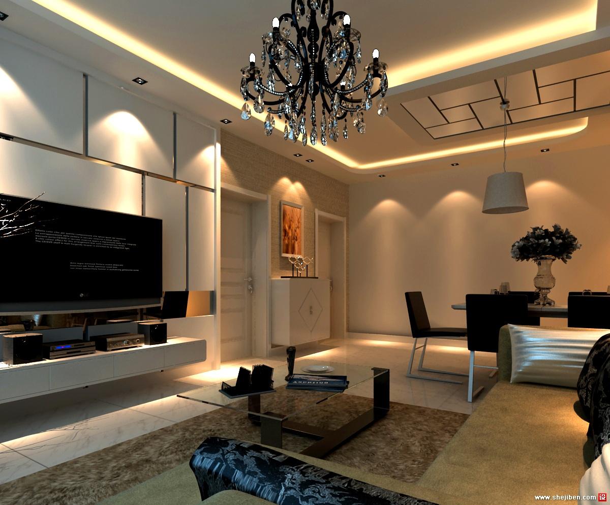 家装客厅电视背景墙_客厅电视背景墙 – 设计本装修效果图