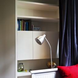 2017现代风格二居室经典男孩儿童房书柜装修效果图片