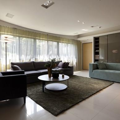 新北市中和曉山青住家客厅窗帘装修效果图