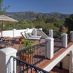 地中海风格样板房露天休闲区栏杆装修效果图
