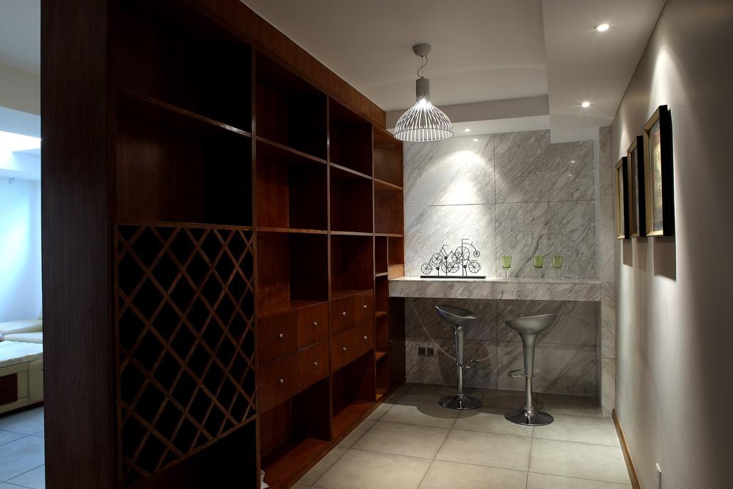 餐厅吊灯模型_中式古典装修样板房吧台带酒柜装修效果图 – 设计本装修效果图