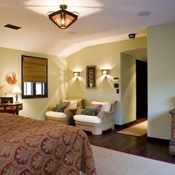 地中海风格样板房卧室与小客厅装修效果图