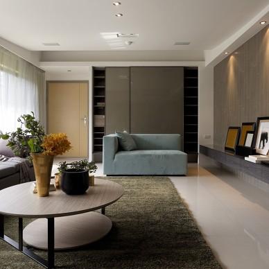 新北市中和曉山青住家客厅装修效果图
