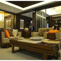 三居室纯中式客厅楷模家具装修效果图