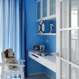 地中海风格复式家儿童房窗帘装修效果图集