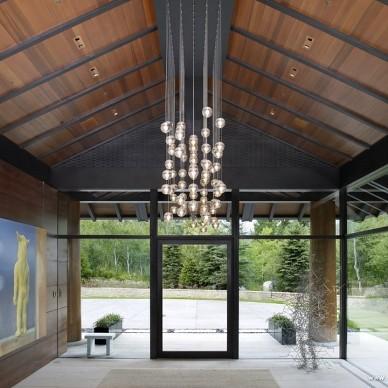 别墅设计入门过道吊顶装修效果图