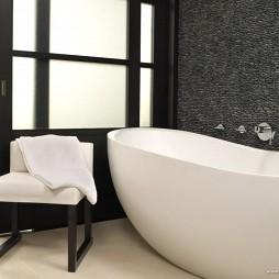家装卫生间浴缸设计装修效果图