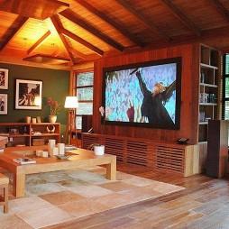 巴西水上之家小客厅投影器装修效果图