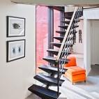 山间阁楼小别墅家装楼梯装修效果图