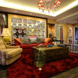 中式风格室内设计客厅楷模家具装修效果图