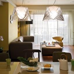 台北国家世纪馆样板客厅餐厅装修效果图片
