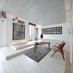 简约清爽复式公寓设计小客厅吊顶装修效果图