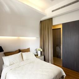 文山行旅室内设计卧室窗帘装修效果图