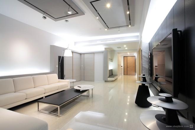现代风格家居设计台南席悅林宅客厅玄关