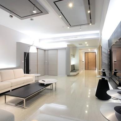 现代风格家居设计台南席悅林宅客厅玄关装修效果图