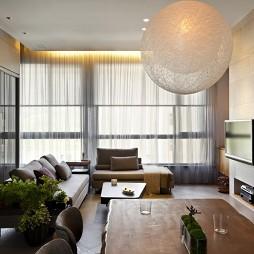 文山行旅室内设计餐厅与客厅隔断装修效果图