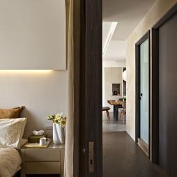 文山行旅室内设计卧室隔断装修效果图