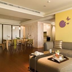 台北国家世纪馆样板客厅餐厅装修效果图