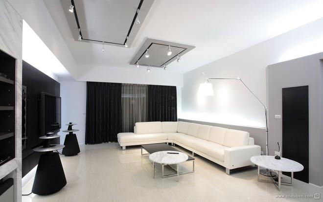 现代风格家居设计台南席悅林宅客厅飘窗