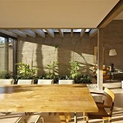 私人别墅设计餐厅与客厅隔断装修效果图
