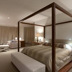 温哥华600平米豪华复式住宅设计卧室与客厅隔断装修效果图