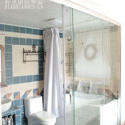 混搭风格简单小面积家用家居主卫生间瓷砖装修效果图片