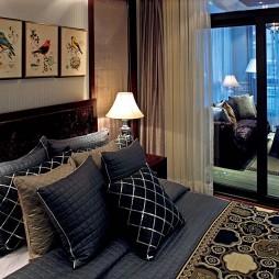 欧式西安鸿基紫韵J2示范单位暗客厅卧室隔断装修效果图