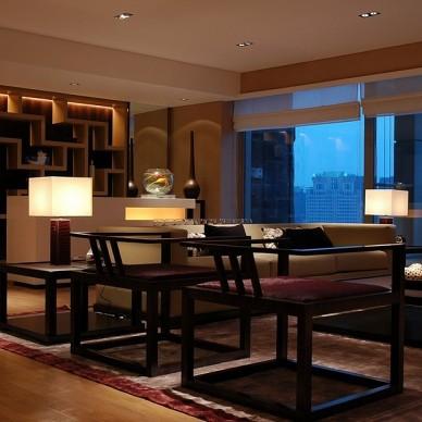 中式客厅博古架装修效果图