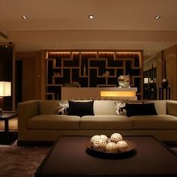 中式客厅博古架装修效果图片
