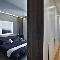 Duplex in Filothei希腊雅典公寓住宅室内设计卧室隔断装修效果图