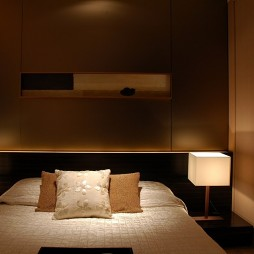 中式卧室隐形门衣柜装修效果图