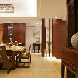 中式古典样板房装修餐厅装修效果图