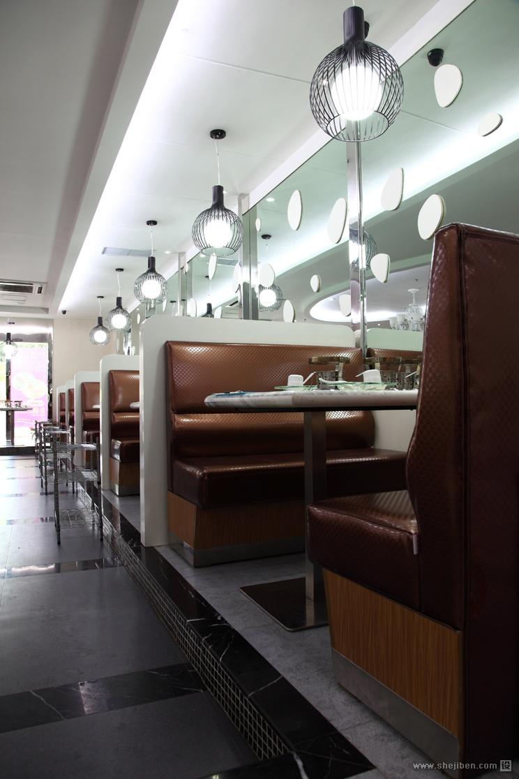 娱乐资讯_情侣餐馆卡座区装修效果图 – 设计本装修效果图