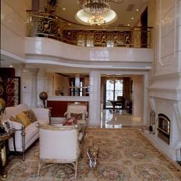 别墅室内挑空客厅地毯装修效果图