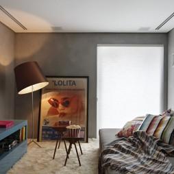 巴西清爽复式公寓设计混搭农村小客厅装修效果图