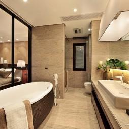 中式卫生间沐浴间装修效果图