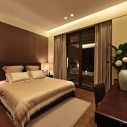 中式卧室背景墙装修效果图片